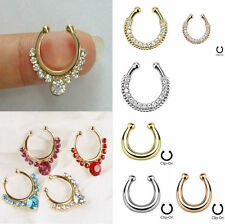 Fake Non-Piercing Nose Ring Septum Hanger Clip-On Body Jewelry