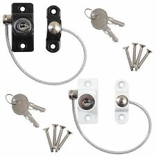 UPVC WINDOW DOOR CABLE RESTRICTOR Ventilator Child Safety Security Locking Lock