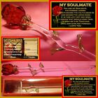 MY SOULMATE RED ROSE GLASS FLOWER GIFT VALENTINES DAY I LOVE YOU SPECIAL ONE