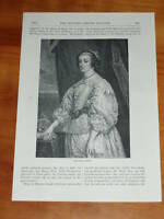 Print circa 80 years old Henrietta Maria (also available framed)