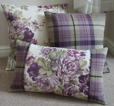 NEW HIGHLANDS CAIRNGORM / ILIV FLORAL THISTLE CUSHION COVERS IN VARIOUS SIZES