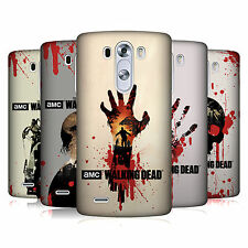 UFFICIALE AMC THE WALKING DEAD SAGOME COVER RETRO RIGIDA PER LG TELEFONI 1