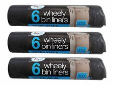 Tidyz 300L Extra Value Wheely Bin Liners Waste Bags Sacks Free Postage