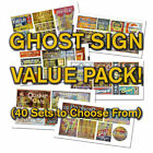 HO or N Scale Ghost Sign Decals Value Pack-25% DISCOUNT