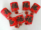 16 RED COLOR LUCK CHINESE PAPER LANTERN JAPANESE CHINESE DINNER WEDDING PARTY