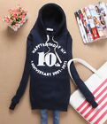 Womens Cute Long Sleeves Happy Birthday Letters Elastic Cuffs Hoodies Sweat 4963