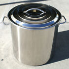 NEW 120 QT Quart Polished Stainless Steel Stock Pot Brewing Kettle Large w/ Lid