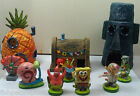 Aquarium Spongebob Set 7 Figures 3 Houses complete collection Nickleodean