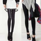 Casual Trendy Womens Leggings Must-have Pencil Pants Warm Down Solid Black 4845