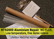 Aluminium Rods ALUMINIUM REPAIR, braze weld solder (low temp, NO FLUX!) HTS2000