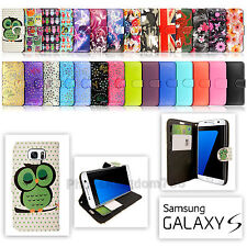 Quality Leather Wallet Case Cover For Samsung Galaxy Mobile Phones New Designs