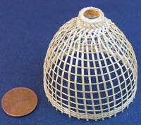 1:12 Scale Single Handmade Bamboo Basket Dolls House Miniature Accessories P M