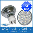 240V 54-LED GU10 COOL WHITE DOWN LIGHT GLOBE - House/Ceiling Downlight Bulb