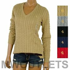 Polo Ralph Lauren WOMENS MOCK NECK CABLE KNIT Full Zipped Sweater
