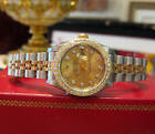 Ladies ROLEX Oyster Perpetual DATEJUST Two-Tone 18k Yellow Gold & Steel DIAMONDS