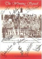 SUNDERLAND FC 1973 FA CUP FINAL SIGNED x11 (PRINTED) BOBBY KERR JIM MONTGOMERY