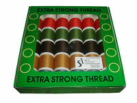 36 SPOOLS - POLYESTER SEWING MACHINE THREAD - ASSORTED COLOURS - EXTRA STRONG