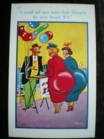 POSTCARD COMIC/ SEASIDE HUMOUR I COULD TELL YOU WERE FROM GLASGOW BY YOUR BROAD