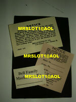 MILLS INSPECTION TAGS, SET OF 3 DIFFERANT TAGS  MILLS ANTIQUE SLOT MACHINES Mill