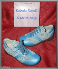 NIB*ROBERTO CAVALLI*DESIGNER GIRLS SNEAKERS*BLUE LEAPORD SHOES*ANGELS*2*33*US 3