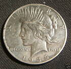 1935-S~~PEACE SILVER DOLLAR~~XF-AU~~TOUGH DATE~~TONED