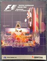 AUSTRALIAN GRAND PRIX F1 Official Race Programme 2000
