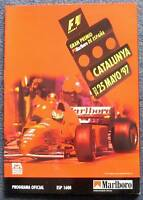 SPANISH GRAND PRIX F1 Catalunya Official Programme 1997