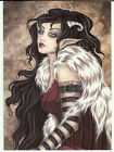 Amy Brown Greeting Card Lissette Horns Goth Steampunk