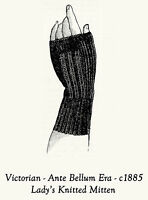 Victorian Knit Fingerless Goth Glove Mitten Pattern1890