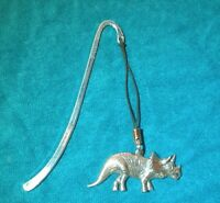 Triceratops Dinosaur Bookmark, Fine English Pewter, Gift Boxed