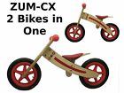 ZUM-CX Wooden Balance/Push Bike - New - 3-Pack