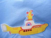 Metal Tin Music Sign Beatles Yellow Submarine Shaped