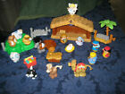 Fisher Price Little People Nativity Touch Feel Manger Christmas Jesus Shepherds