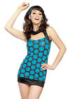 SEXY DISCO 70s BLUE HIPPIE FANCY DRESS COSTUME SIZE S/M