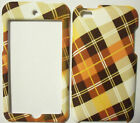 Brown Plaid Apple ipod iTouch Touch 4G 4 Faceplate Protector Case Snap On Cover