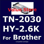 2x TN-2030 High 2.6K for Brother HL-2130 HL2132 DCP7055