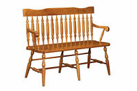 Amish Royal Arrow Solid Wood Bench Seat Country Cottage Entryway Hallway