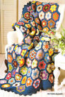 Vintage Crochet Pattern Paperweight Granny Afghan/Throw
