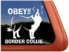 OBEY THE BORDER COLLIE ~ High Quality Dog Auto Vinyl Window Sticker Decal