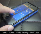 Blue Stylish Grip Series Touch Case cover fits iphone 4 4S