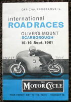 SCARBOROUGH OLIVER'S MOUNT INT MOTORCYCLE ROAD RACE PROGRAMME 15-16 SEPT 1961