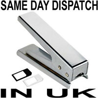 MICRO SIM CARD CUTTER + 2 ADAPTORS FOR iPHONE 4 4G 4S iPAD