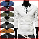 THELEES Casual Mens Long Sleeve Stretchy Slim T-Shirts Collection