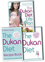 Dukan Diet Collection Dr Pierre Dukan 3 Books Set Recipe, Lose Weight, Life Plan