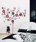FLOWER TREE; KITTY & BUTTERFLIES Removable wall sticker for home,kids or nursery