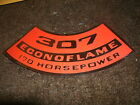 1969 1970 PONTIAC CANADIAN ECONO-FLAME ECONOFLAME 307 170HP AIR CLEANER DECAL