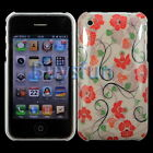 Cacov Flower Pattern New Hard Cover Case For Apple iPhone 3G 3GS