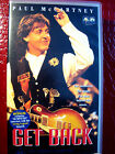 PAUL McCARTNEY VHS VIDEO GET BACK INCLUDING 60 MINUTE INTERVIEW