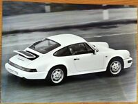 PORSCHE 911 CARRERA 2 PRESS PHOTOGRAPH CIRCA 1990 BLACK & WHITE