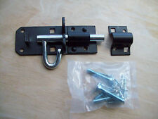 Brenton padbolt garden gate padlock bolt latch lock black PAD BOLT